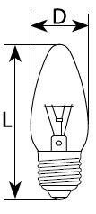 Лампа свеча Е27 40 Вт - фото 1