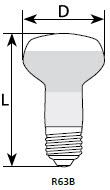 Лампа Львов рефлекторная ДЗК R63 Е27 60 Вт индивидуальная упаковка - фото 1