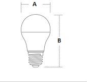 Лампа светодиодная Iskra LED A60 E27 12W 3000K - фото AA60.jpg