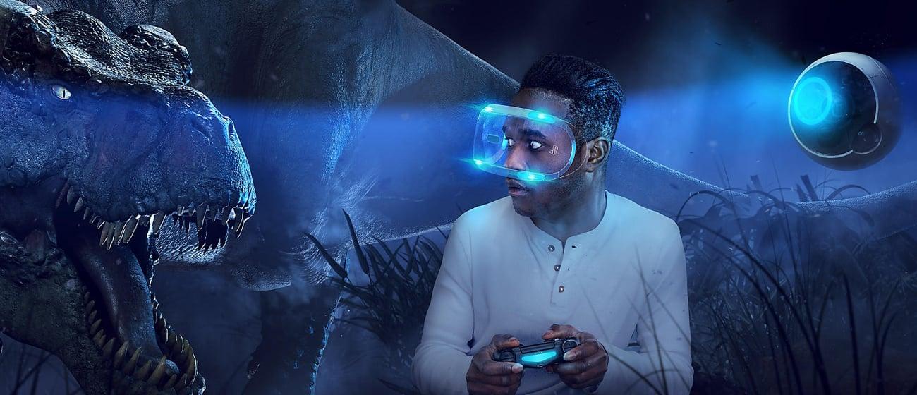 Play. Station VR 360 градусов видимости