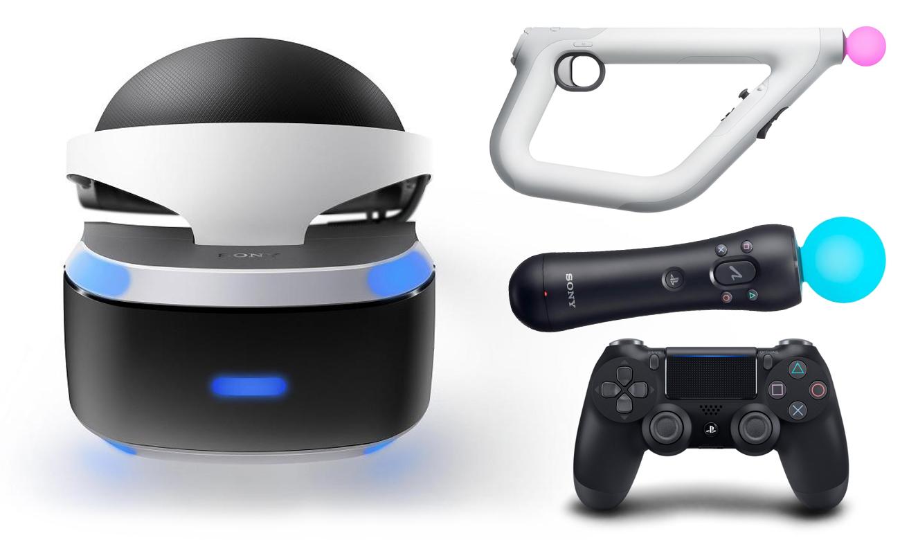Play. Station VR Контроллеры переднего вида