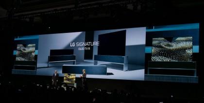 Модельный ряд OLED и ЖК телевизоров LG 2019 года,  работающих под управлением операционной системы webOS 4.5 - фото LG TV CES 2019.jpg