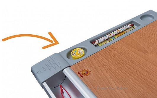 Детский стол трансформер Mealux Tokyo-2, 3 цвета - фото detskiy_stol_comf_pro_bok_penal.jpg