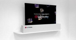 Новинки телевизоров LG 2018 - фото Скручиваемый телевизор LG UHD RollableOLED