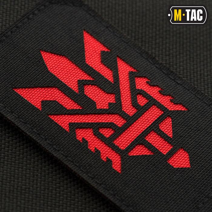 M-TAC НАШИВКА ТРИЗУБ (СТИЛИЗАЦИЯ) ВЕРТИКАЛЬНАЯ BLACK/RED - фото 3fe6a6edd59563149b9cfd1df6975393.jpg