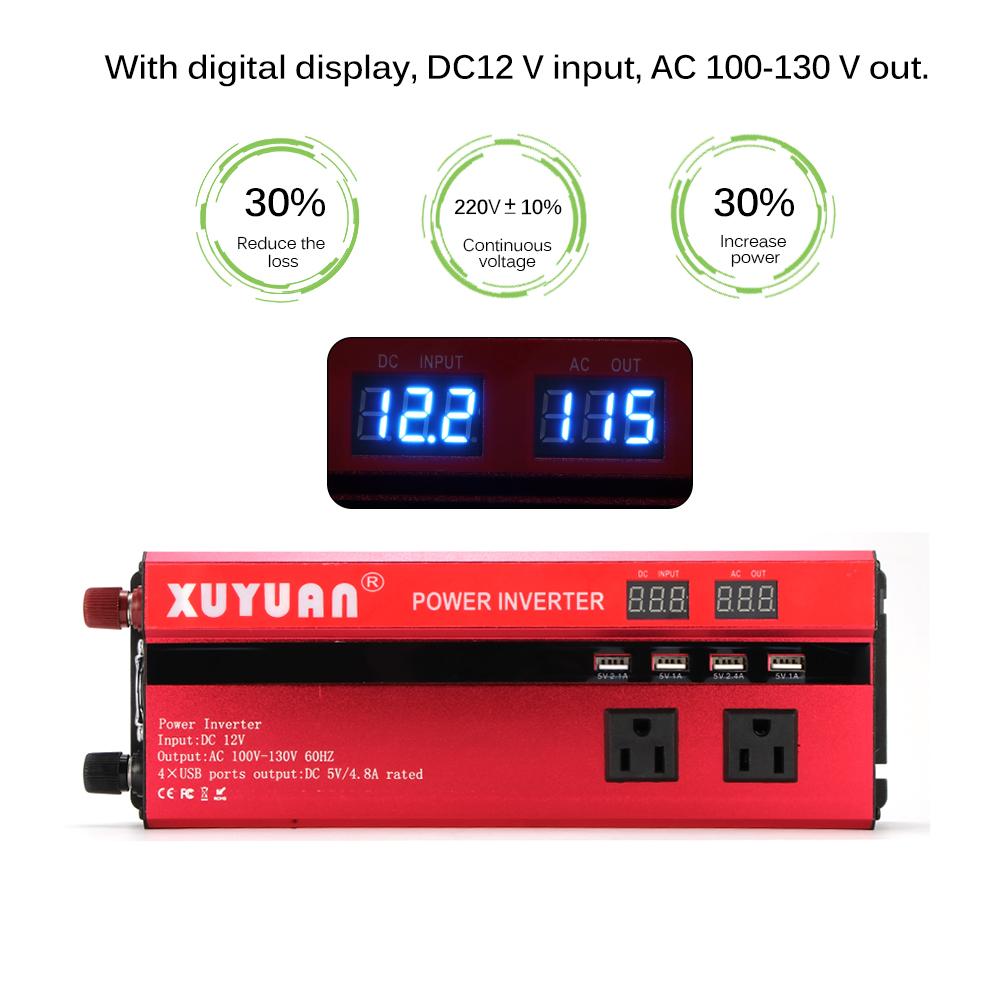 Преобразователь напряжения (инвертор) 4000Вт/5000Вт DC/AC 12В-220В 2хдисплея, 4хUSB - фото HTB1v6HlwZuYBuNkSmRyq6AA3pXac.jpg