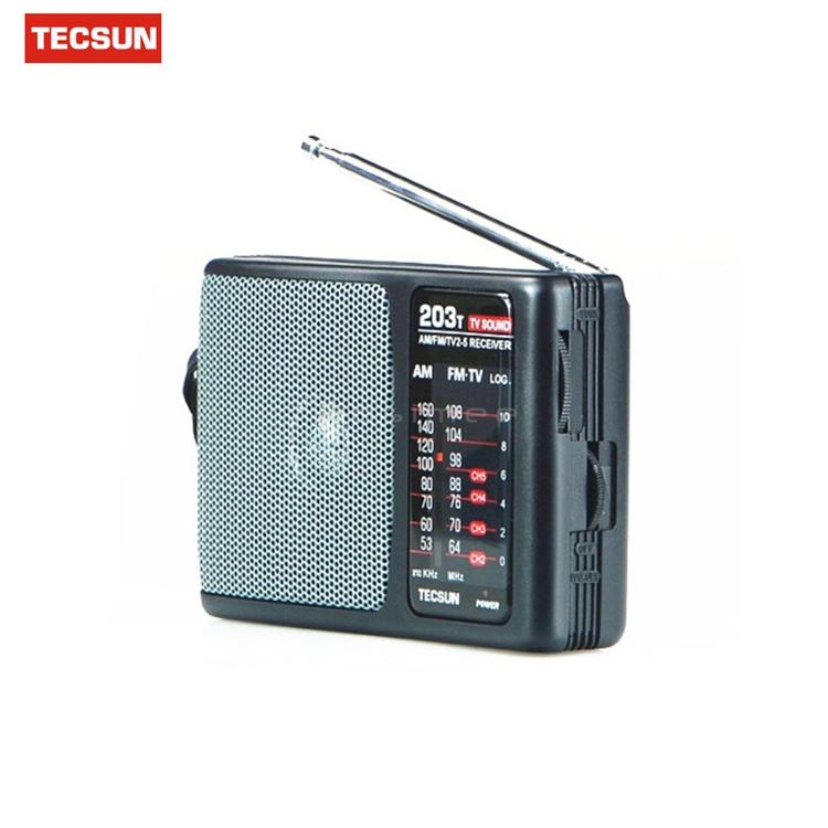 Портативный мини радиоприемник R-203-T FM/AM/TV. Высокая чувствительность, встроенный громкий динамик - фото 71