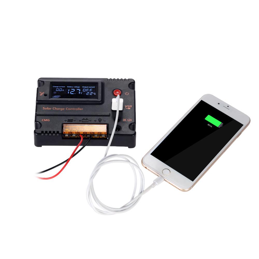 20A контроллер заряда солнечной панели Anself GMG-2420 с ЖК дисплеем, 12V/24V automatic - фото HTB19KIyKVXXXXbyXFXXq6xXFXXXG.jpg