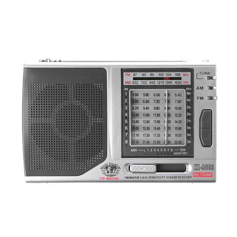 FM/MW/SW1-8 10-полосный высоко чувствительный радиоприемник с откидной подставкой Kchibo KK-9803 - фото 4N20327-3LOGO