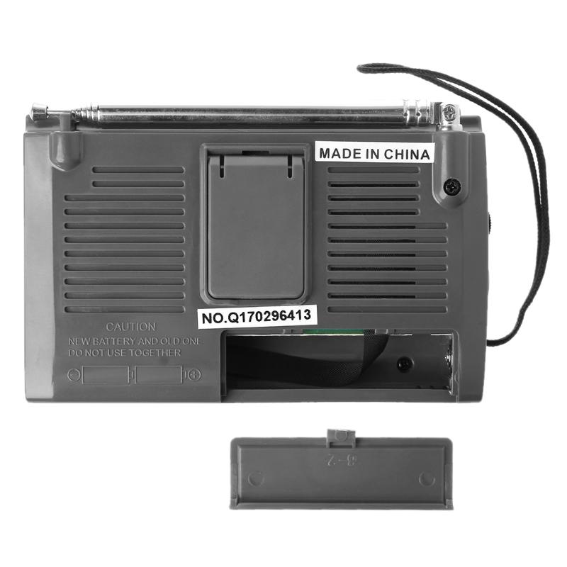 FM/MW/SW1-8 10-полосный высоко чувствительный радиоприемник с откидной подставкой Kchibo KK-9803 - фото 4N20327-5