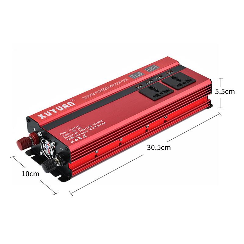 Преобразователь напряжения (инвертор) 4000Вт/5000Вт DC/AC 12В-220В 2хдисплея, 4хUSB - фото HTB11GyqKeSSBuNjy0Flq6zBpVXa1.jpg