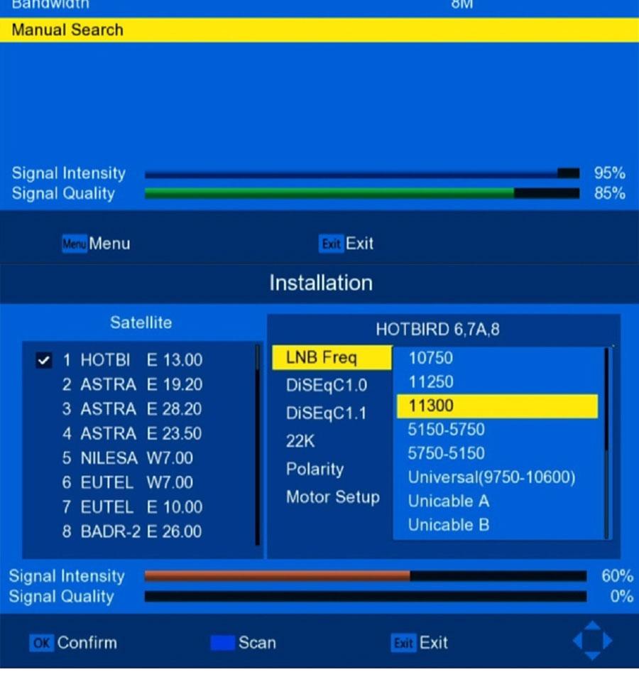 Спутниковая приставка DVB-S2 + DVB-T2 Combo HD цифровое спутниковое ТВ H.264 MPEG-2/4. Поддержка Bisskey. - фото -1_09_02