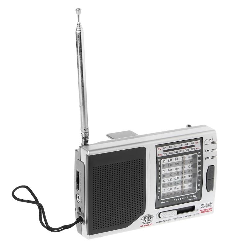 FM/MW/SW1-8 10-полосный высоко чувствительный радиоприемник с откидной подставкой Kchibo KK-9803 - фото 4N20327-4LOGO