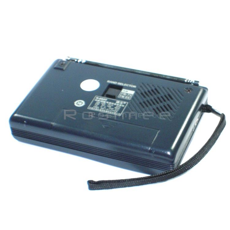 Портативный мини радиоприемник R-203-T FM/AM/TV. Высокая чувствительность, встроенный громкий динамик - фото 78