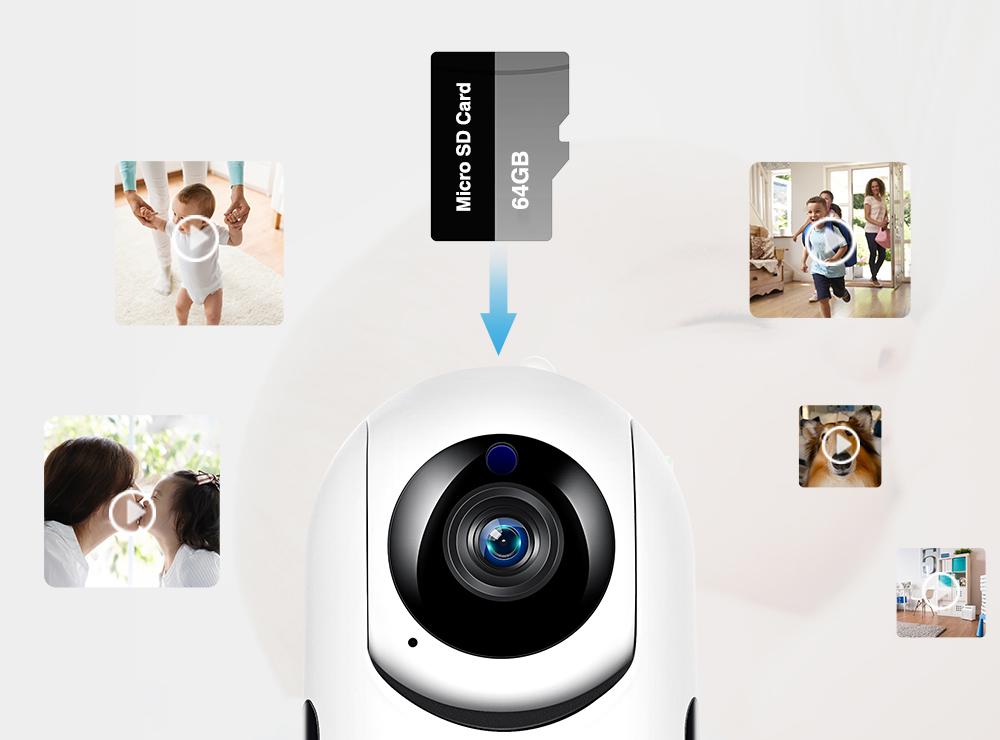 Поворотная Wi-FI камера Fredi Y7 1080P IP камера с записью в облако - фото 8