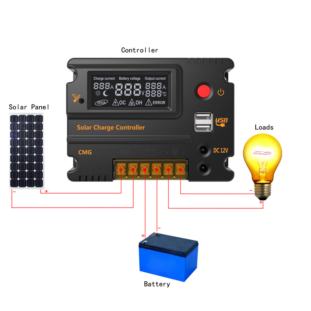 20A контроллер заряда солнечной панели Anself GMG-2420 с ЖК дисплеем, 12V/24V automatic - фото HTB1xroIKVXXXXcMXXXXq6xXFXXXi.jpg