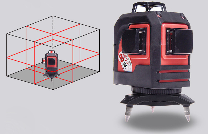 For Fukuda 12 Lines 3D Laser Level Self-Leveling 360 Horizontal And Vertical Cross Super Powerful Red Laser Beam Line (3)