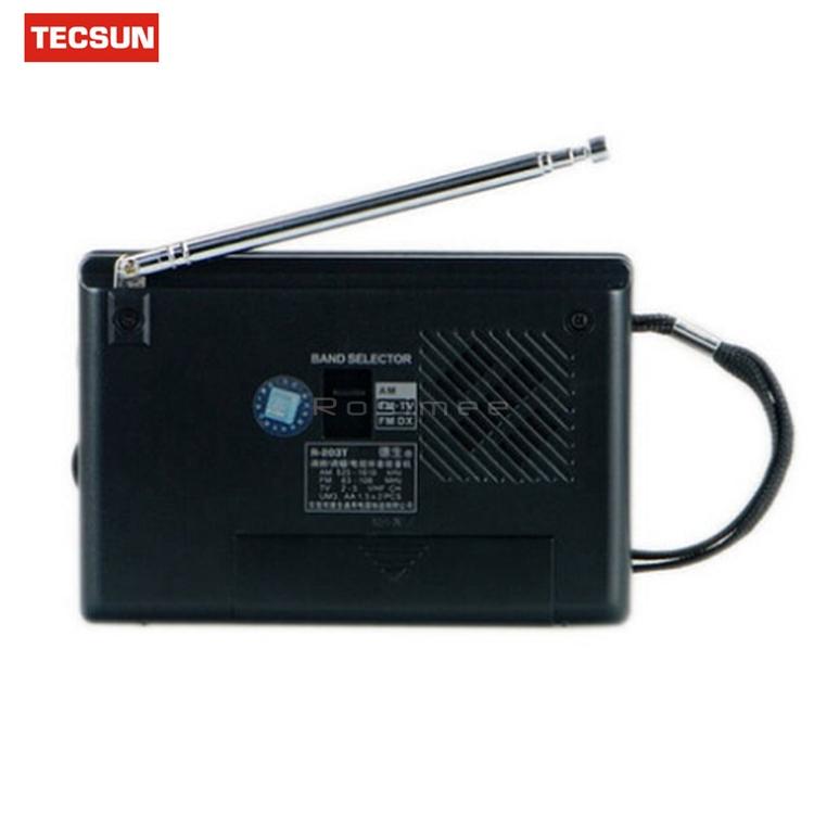 Портативный мини радиоприемник R-203-T FM/AM/TV. Высокая чувствительность, встроенный громкий динамик - фото 72
