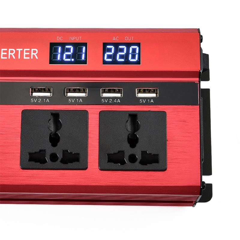 Преобразователь напряжения (инвертор) 4000Вт/5000Вт DC/AC 12В-220В 2хдисплея, 4хUSB - фото HTB1DS98KeySBuNjy1zdq6xPxFXaY.jpg