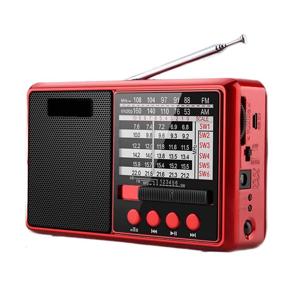 E3675-FM AM SW Radio-red