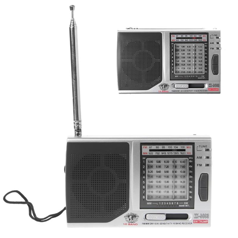 FM/MW/SW1-8 10-полосный высоко чувствительный радиоприемник с откидной подставкой Kchibo KK-9803 - фото 4N20327-1LOGO