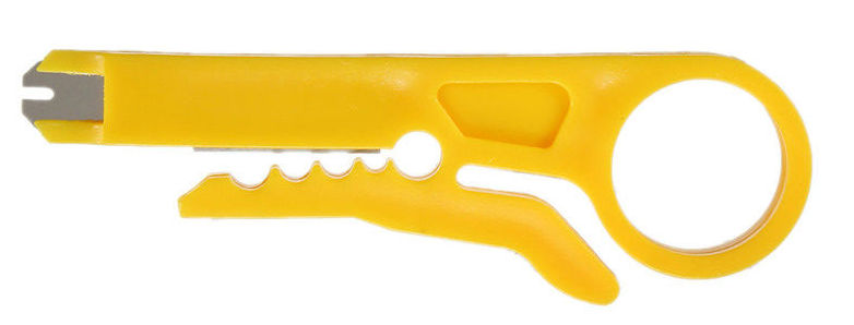 Инструмент для зачистки и обжима проводов. - фото Нож для снятия изоляции с прижимной лапкой