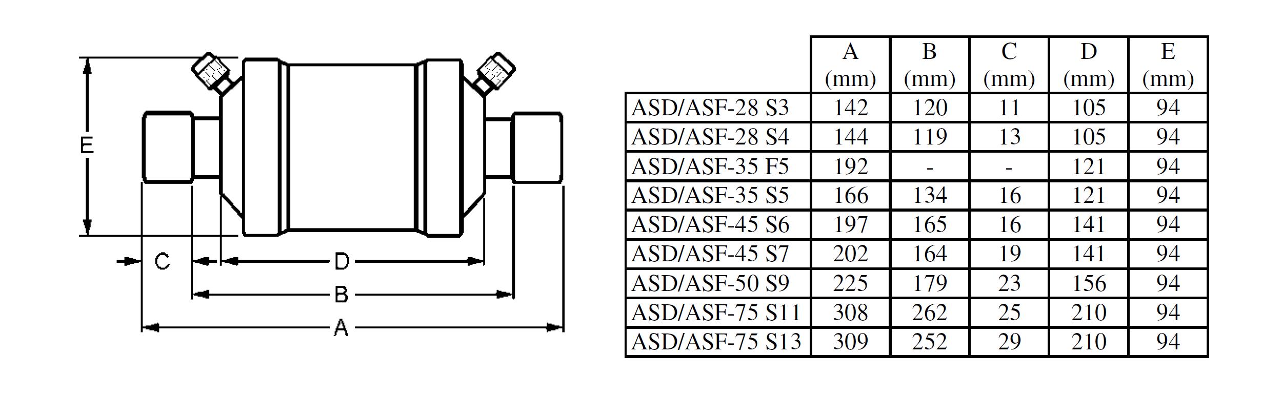 Фильтр на всасывание Alco Controls ASF-50 S9 - фото 2