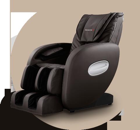 Массажное кресло HomeLine S коричневый - фото 1