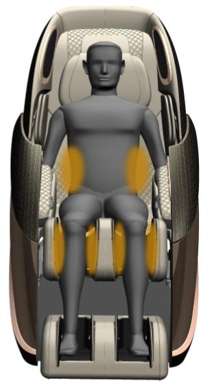 Массажное кресло Pilot II бордовый - фото 8