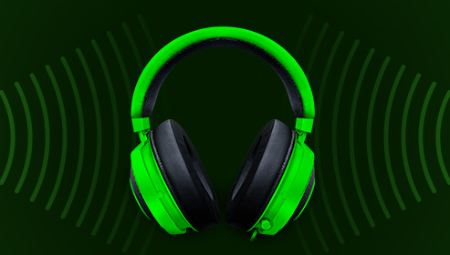 наушники зеленые