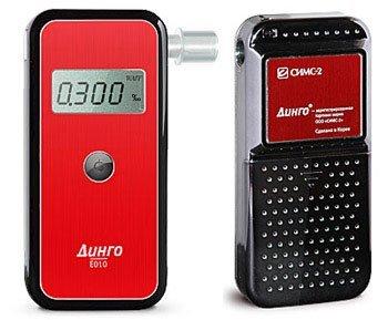 Алкотестер медицинский  Динго Е 010 (USB кабель) - фото Алкотестер Динго Е-010: вид спереди и сзади