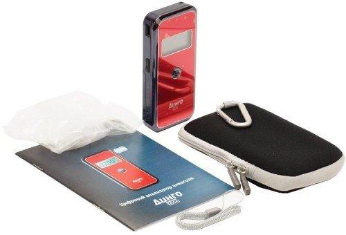 Алкотестер медицинский  Динго Е 010 (USB кабель) - фото Содержимое упаковки алкотестера Динго Е-010