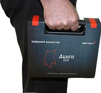 Алкотестер медицинский  Динго Е 010 (USB кабель) - фото Весь комплект алкотестера Динго Е-010 помещается в удобный пластиковый кейс