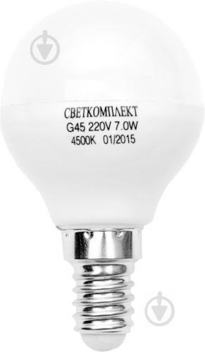 Лампа светодиодная Светкомплект 7 Вт G45 матовая E14 220 В 4500 К - фото Лампа светодиодная Светкомплект 7 Вт G45 матовая E14 220 В 4500 К - фото 4