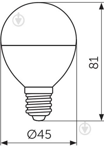 Лампа светодиодная Светкомплект 7 Вт G45 матовая E14 220 В 4500 К - фото Лампа светодиодная Светкомплект 7 Вт G45 матовая E14 220 В 4500 К - фото 6