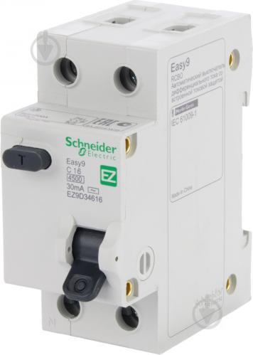 Дифференциальный автомат Schneider Electric 1Р+N 16 А 30 мА С АС EZ9D34616 - фото Дифференциальный автомат Schneider Electric 1Р+N 16 А 30 мА С АС EZ9D34616 - фото 2