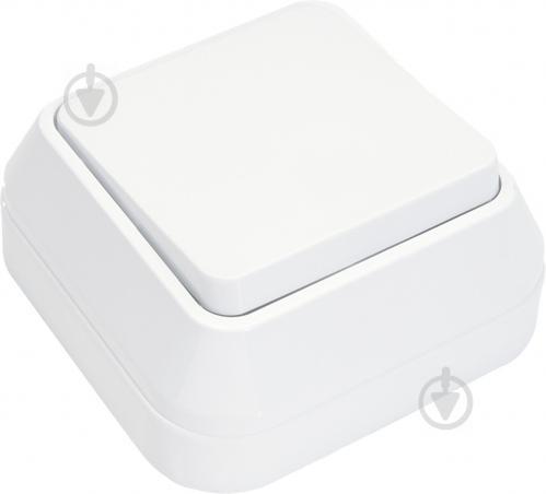 Выключатель проходной одноклавишный Makel IP44 без подсветки 10 А 250В белый 45105 - фото 2