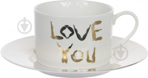 Чашка с блюдцем Любовь 220 мл Lefard - фото 4
