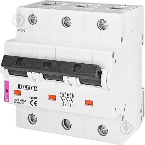 Автоматический выключатель ETI 10 3p C 125А (15 kA) 2135733 - фото 2