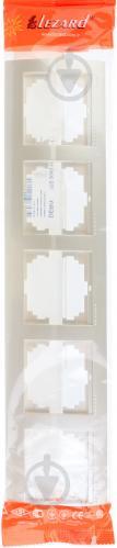 Рамка пятиместная Lezard DERIY горизонтальная жемчужно-белый 702-3000-150 - фото 6