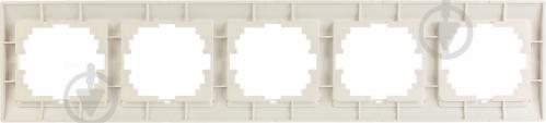 Рамка пятиместная Lezard DERIY горизонтальная жемчужно-белый 702-3000-150 - фото 5