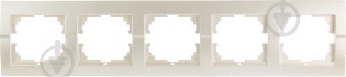 Рамка пятиместная Lezard DERIY горизонтальная жемчужно-белый 702-3000-150 - фото 4