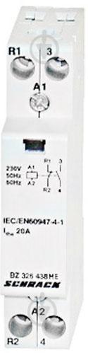 Контактор Schrack 20А 1НВ+1НЗ 230В AC BZ326438ME - фото 2