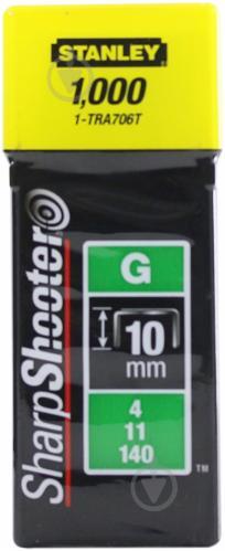 Скобы для ручного степлера Stanley 10 мм тип 140 (G) 1000 шт. 1-TRA706T - фото 2