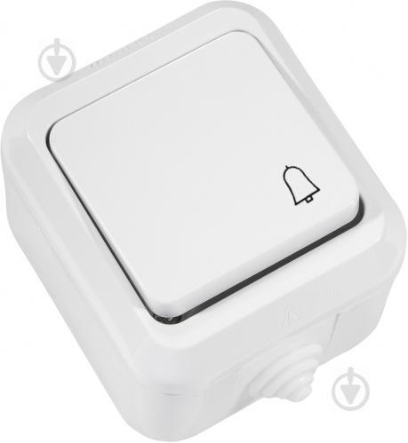 Кнопка звонка Makel IP44 без подсветки 10 А 250В белый 18310 - фото 2