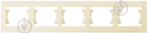 Рамка пятиместная Makel Defne горизонтальная кремовый 42010705 - фото 2