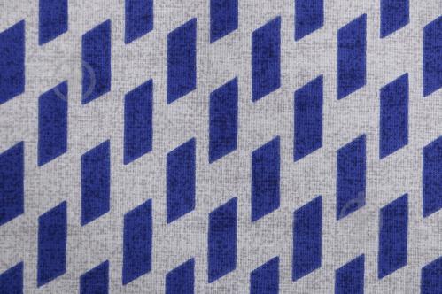 Комплект постельного белья Зигзаг 1,5 синий с белым UP! (Underprice) - фото 10