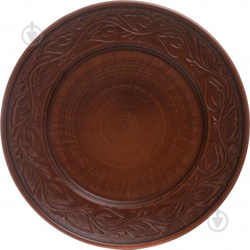 Тарелка десертная дымленая 20 см с рисунком - фото 3