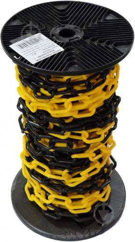 Цепь пластиковая 6 мм желто-черная - фото Цепь пластиковая 6 мм желто-черная - фото 4