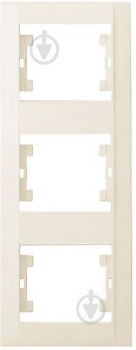 Рамка трехместная Makel Defne вертикальная кремовый 42010708 - фото 2